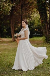 Eveniment de nunta pe Domeniul Stirbei, portret de mireasa