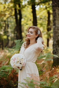 Trash de dress in natura, Mireasa frumosa Targu Jiu