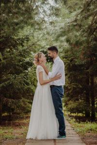 Fotografie de nunta, Trash de dres, tineri casatoriti
