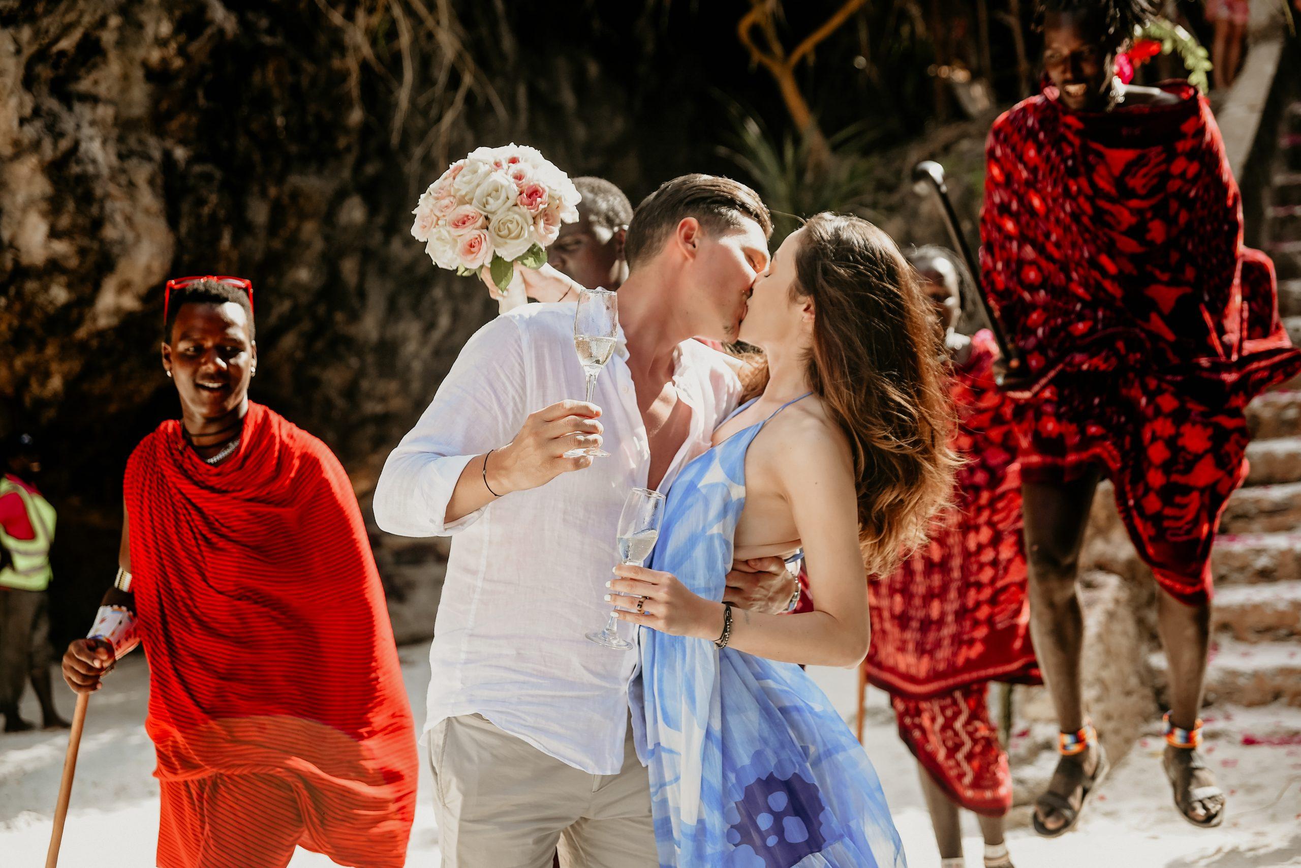 Jean și Deniz - Nunta cu Masai, Nunta pe plaja, Sedinta foto pe plaja