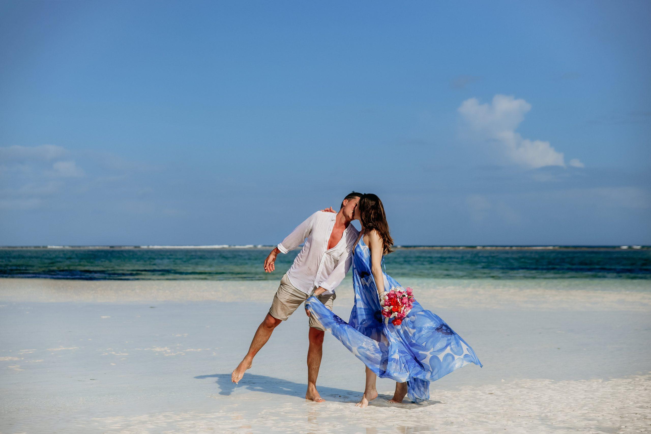 Fotografie de nunta in Zanzibar, Ședință foto pe plajă in Zanzibar